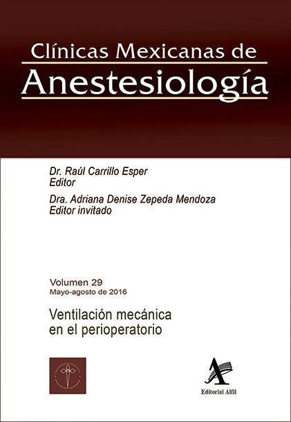 Ventilación mecánica en el perioperatorio (CMA Vol. 29)